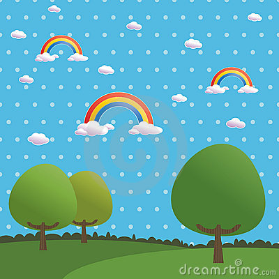 Polka dot rainbows