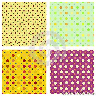 Polka dot repeat patterns