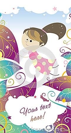 Polka dot s fairy girl