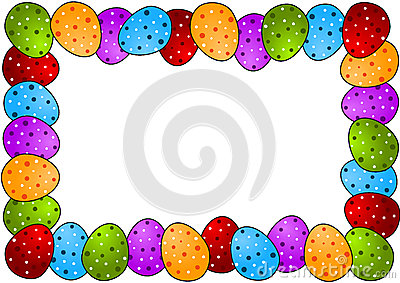 easter egg photo frame or border stock photo image 4008590