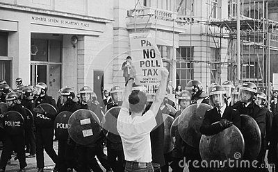 Poll Tax Riots, London Editorial Image
