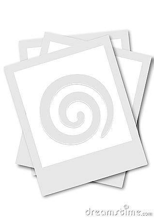 Pollaroid film frames