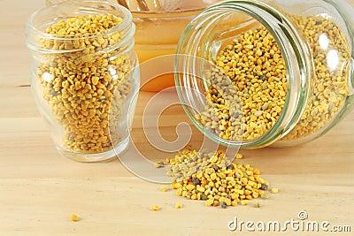 Pollen and honey