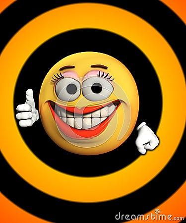 Pollici in su con i sorrisi