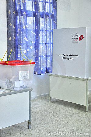 Polling Station Tunis Editorial Image