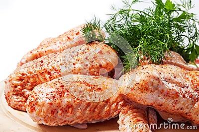 Pollo sin procesar picante
