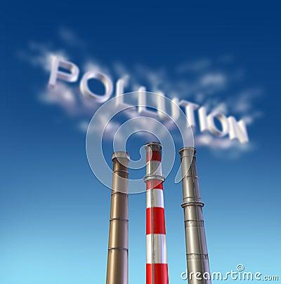 Pollution Poison smoke stack
