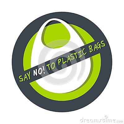 Free Pollution Problem Concept Say No To Plastic Bag Isolated On White Royalty Free Stock Images - 94541239