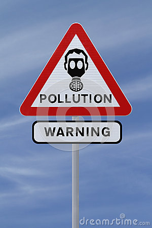 Pollution Warning Sign