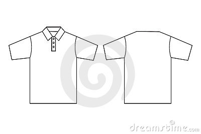 Polo clothing template outline