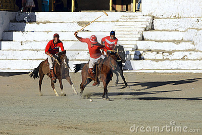 Polo match on Ladakh festifal Editorial Stock Image