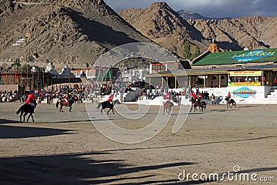 Polo match on Ladakh festifal Editorial Stock Photo