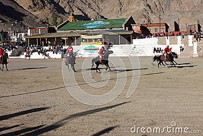 Polo match on Ladakh festifal Editorial Photo