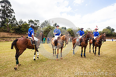 Polo Players four Ponies Editorial Image