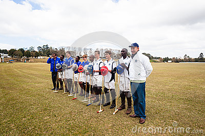 Polo Players Group Portrait Editorial Stock Image
