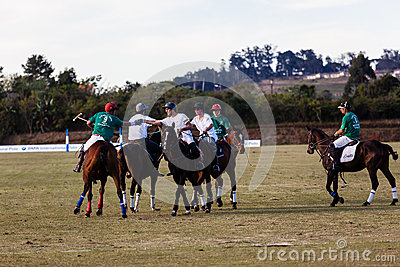 Polo Players Ponies Handshakes Game Over Editorial Photography