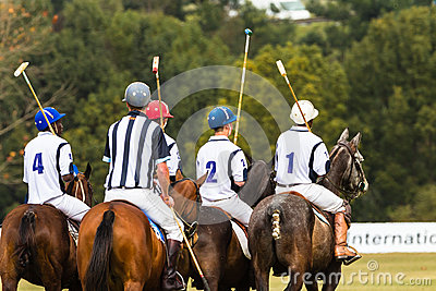Polo Players Ponies Parade Editorial Photography
