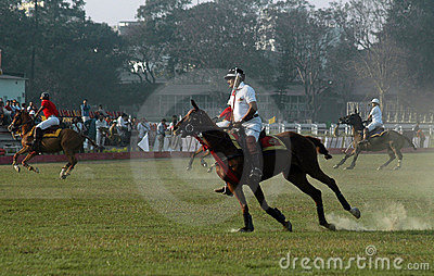 Polo playing in Kolkata-India Editorial Photography