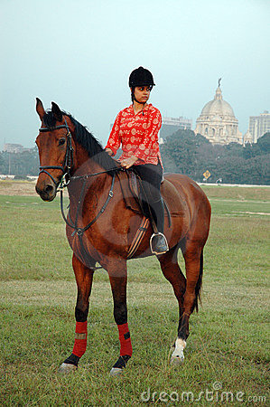Polo playing in Kolkata-India Editorial Stock Image