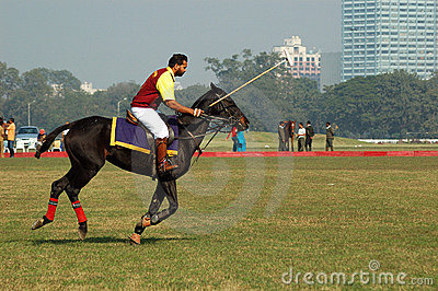 Polo playing in Kolkata-India Editorial Photo