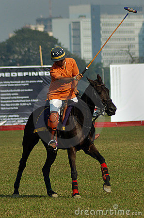 Polo playing in Kolkata-India Editorial Stock Photo