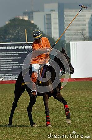 Polo playing in Kolkata-India Editorial Stock Photo