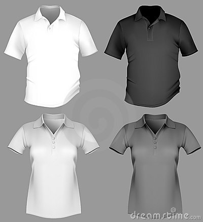 Free Polo Shirt Design Template (men And Women). Stock Photo - 14226160