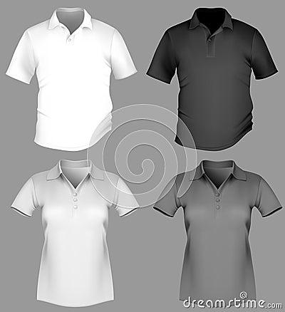 Polo shirt design template (men and women).