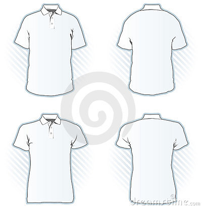 Polo shirt design template set