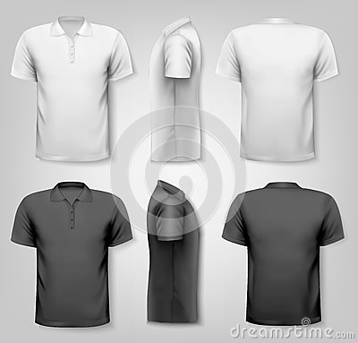 Free Polo Shirts With Sample Text Space. Royalty Free Stock Image - 40876826
