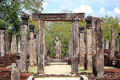 The Polonnaruwa ruins