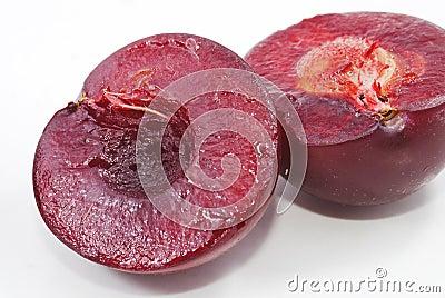 Polpa da ameixa vermelha