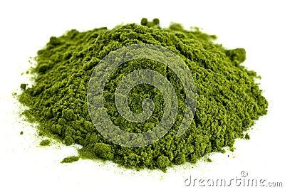 Polvo orgánico liofilizado de la hierba del trigo