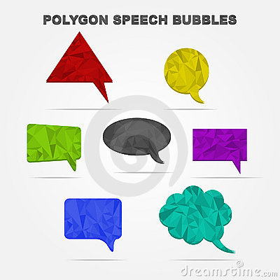 Polygon speech bubbles