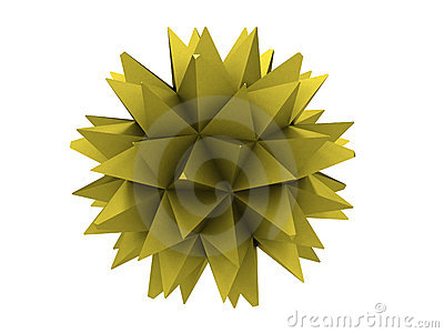 Polygon of yellow metal