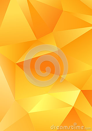 Free Polygonal Triangle Shapes Vector Abstract Yellow Background Template Stock Photo - 59049830