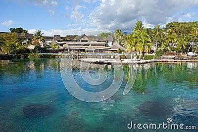 Polynesian landscape-  Azure lagoon