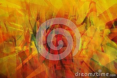 Pomarańcze abstrakcyjna
