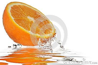 Pomarańczowy Odbicie
