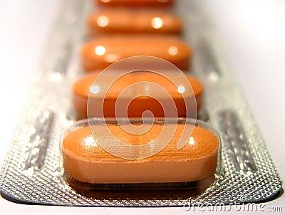 Pomarańczowe tabletki