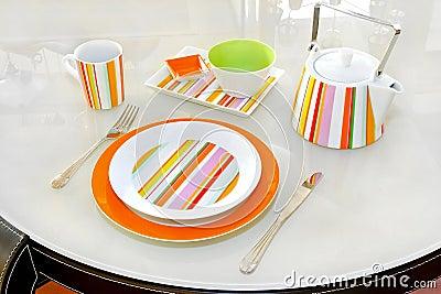 Pomarańczowy tableware