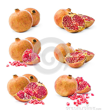 Pomegranate collage