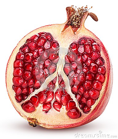 Free Pomegranate Cut In Half Royalty Free Stock Photos - 114774838