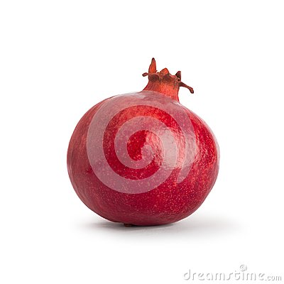 Free Pomegranate. Fresh Raw Fruit Isolated On White Background. With Clipping Path. Royalty Free Stock Photo - 100310125