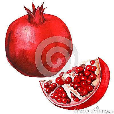 Free Pomegranate Fruit Isolated Royalty Free Stock Image - 43880676