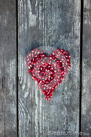 Free Pomegranate Seeds In Heart Shape Stock Image - 45423571