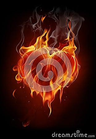Płomienny serce