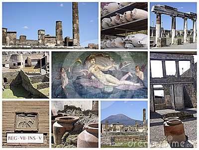Pompei ruins in Italy