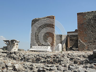 Pompeii excavation