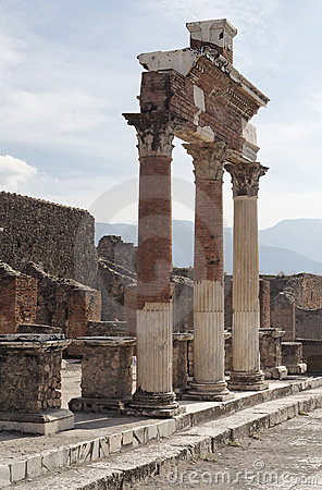 Pompeii Roman Forum Royalty Free Stock Images - Image: 12849299